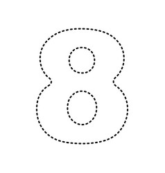 number 8 sign design template element vector image