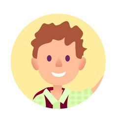 Passport photo of young handsome man closeup vector
