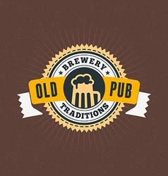 Retro Vintage Design Element for Brewery Badge vector image