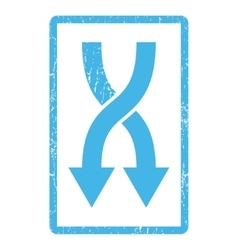 Shuffle arrows down icon rubber stamp vector