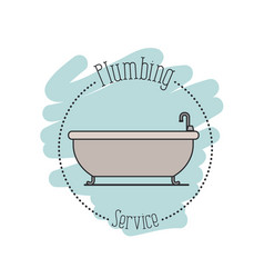 Sticker scene of bath dripping flooded plumbing vector