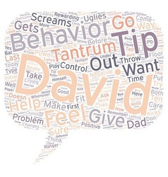 Ten tips to prevent or subdue temper tantrums text vector