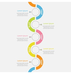 Timeline vertical infographic snail shape ribbon vector