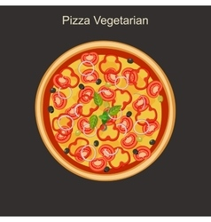 Vegetarian pizza vector