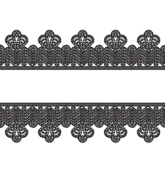 white background with black lace border frame vector image vector image