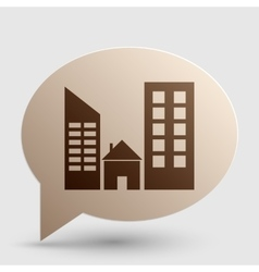 Real estate sign brown gradient icon on bubble vector