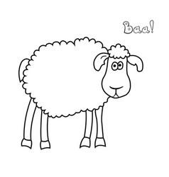 Cute fun cartoon sheep vector