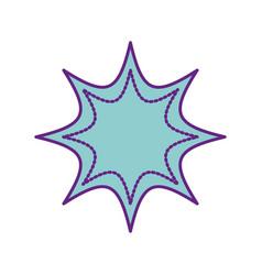 pop art splash icon vector image