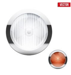 Round car headlight and turn indicator vintage vector