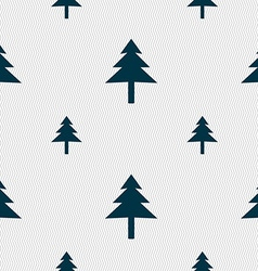 Christmas tree icon sign seamless pattern with vector