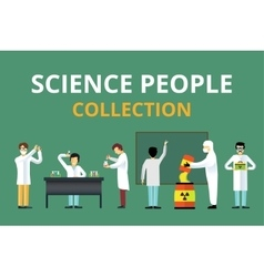 Science laboratory radiation biology people vector