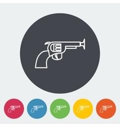 Gun toy vector image