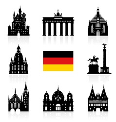 Germany berlin travel landmark icon vector