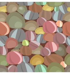 Stones pebbles seamless pattern vector