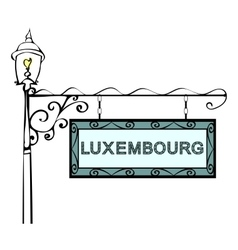 Luxembourg retro vintage lamppost pointer vector