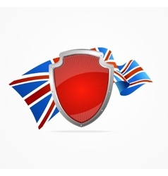 Greate britain flag and shield vector