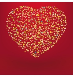 Beautiful colorful heart shape background eps 8 vector