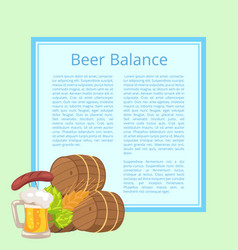beer balance poster with light blue background vector image