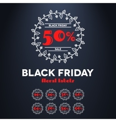 Black friday sale label with percents vector image vector image