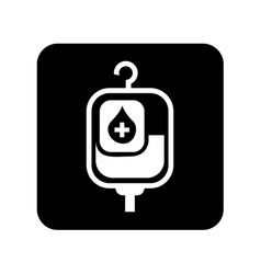 Blood bag isolated icon vector