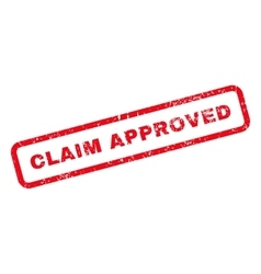 Claim approved text rubber stamp vector