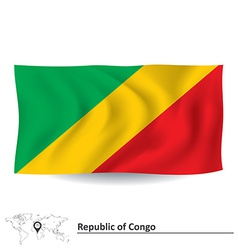 Flag of republic of congo vector