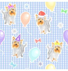 funny dogs wallpaper vector image vector image