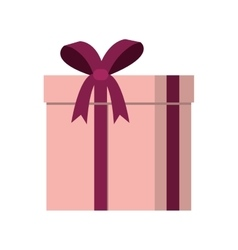 Gift box present ribbon vector