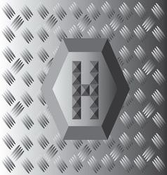 H text aluminium wallpaper vector