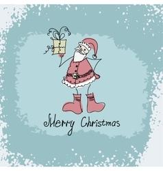 hand drawn Christmas of Santa vector image