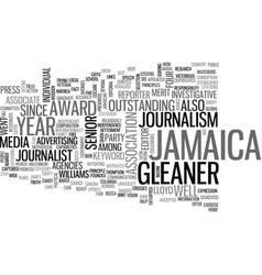 Jamaica gleaner text background word cloud concept vector