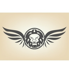 Lion head with wings vector image vector image