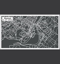 Montreal canada map in retro style vector