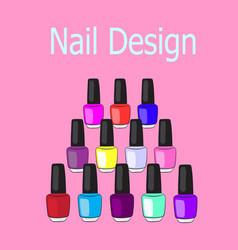 Nail design vector
