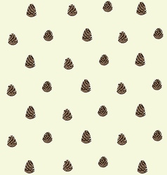 Pattern of pinecones vector