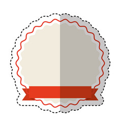 ribbon emblem isolated icon vector image vector image