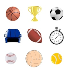 Set of sportive objects vector image vector image