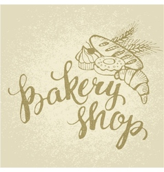 Shop baking hand made vector