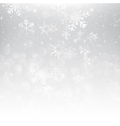 Snow fall with bokeh abstract grey background vector