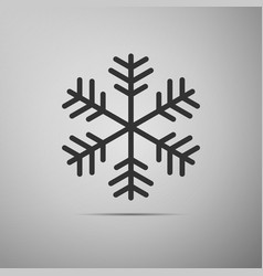 snowflake flat icon on grey background vector image vector image