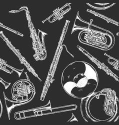 Woodwind and brass musical instrument vector