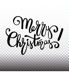 Merry christmas lettering design handwriting text vector