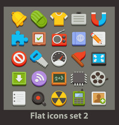 Flat icon-set 2 vector