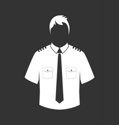 Pilot shirt vector