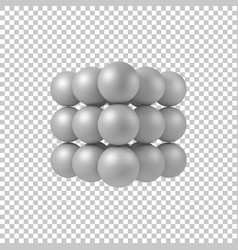 white abstract 3d shape vector image