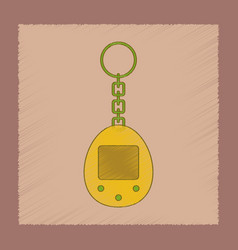 Flat shading style icon kids retro electric toy vector