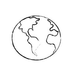 Figure global earth plenet with geography vector