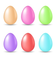 Easter set painted eggs isolated on white vector