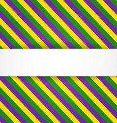 Mardi gras background with banner vector