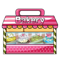 A bakery selling baked goodies vector